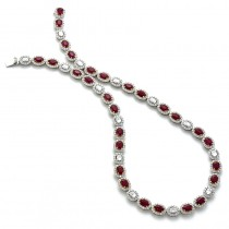 18K Two-Tone Gold Ruby Necklace