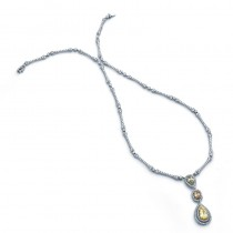 18K Tri-Color Gold Diamond Necklace
