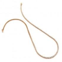 18K Rose Gold Tennis Necklace
