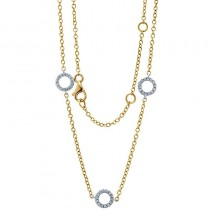 18K Two-tone Diamond Necklace