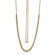 18K Yellow Gold  DiamondNecklace