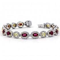 18K Two-tone Ruby and Yellow Diamond Bracelet
