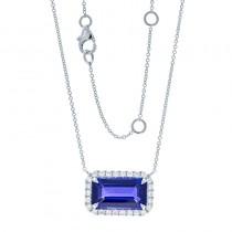 18K White Gold Tanzanite Necklace