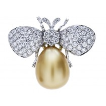 18K White Gold Pearl Pendant