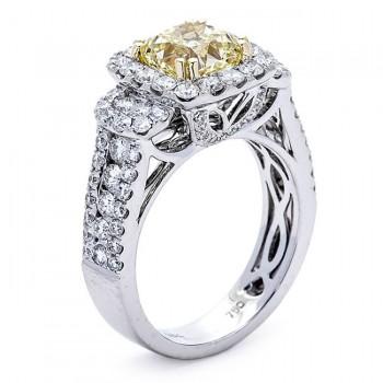 18K Two-tone Gold Fancy Diamond Ring