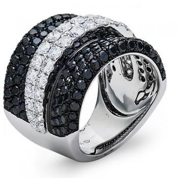 18K White Gold Black Diamond Band