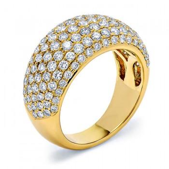 18K Yellow Gold Diamond Band