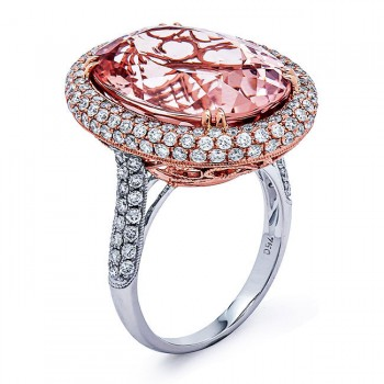 18K Two-tone Morganite Ring
