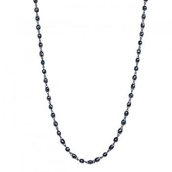 18K Black Rhodium Black Diamond Necklace