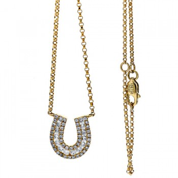 18K Yellow Gold Diamond Necklace