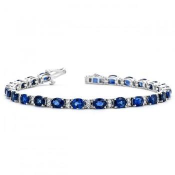 18K White Gold Sapphire Bracelet