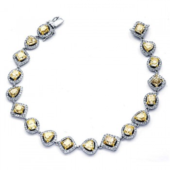 18K Two-tone Gold Yellow Bracelet