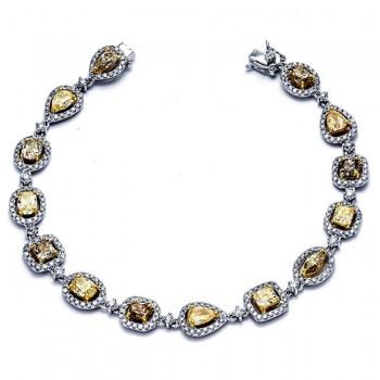18K Two-tone Gold Fancy Diamond Bracelet