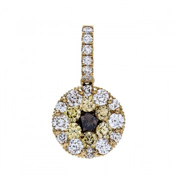 18K Yellow Gold Brown Diamond Pendant
