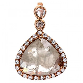 18K Rose Gold Fancy Diamond Pendant