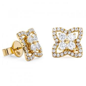 18K Yellow Gold Diamond Studs