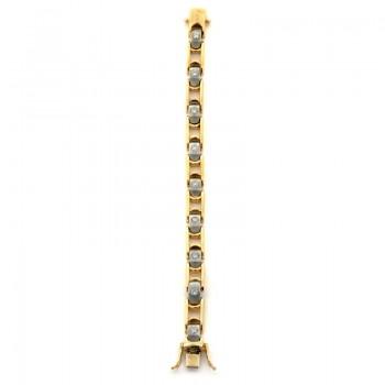18K Two-tone Gold Men's Bracelet