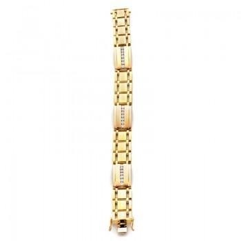 18K Yellow Gold Diamond Men's Bracelet
