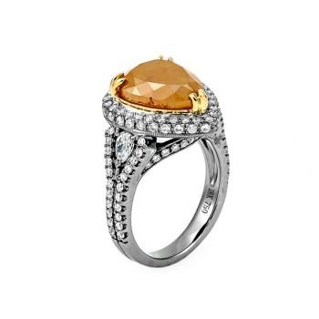 18K White Yellow Gold Fancy Diamond