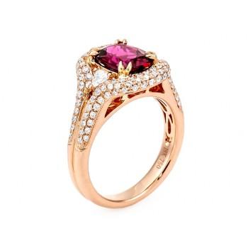 18K Rose Gold Rubelite Ring