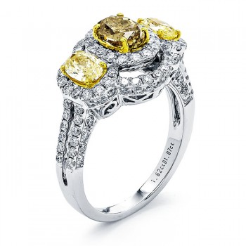 18K Two-tone Gold Fancy Diamond Ring