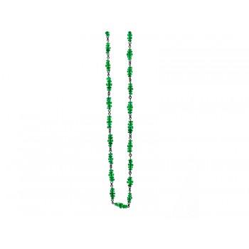 18K Black Rhodium Emerald Faceted Bead Necklace