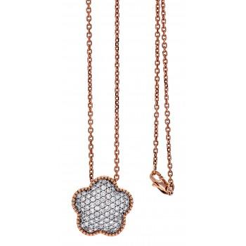 18K Two-tone Gold Diamond Necklace