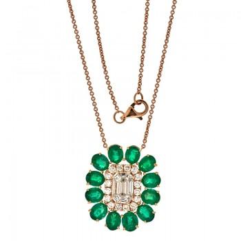 18K Rose Gold Diamond Necklace