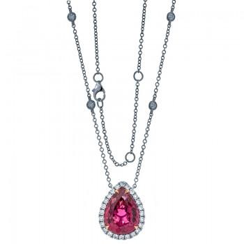 18K Two-tone Rubelite Necklace
