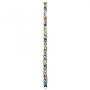 18K Two-tone Yellow Diamond Bracelet