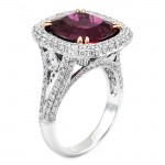 18K Two-tone Rubelite Stone Ring