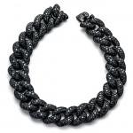 18K Black Rhodium Black Diamond Bracelet
