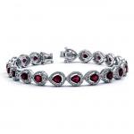 18K White Gold Ruby Bracelet