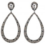 18K White Gold Brown Diamond Earrings