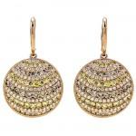 18K Rose Gold Yellow Diamond Earrings
