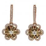 18K Rose Gold Fancy Diamond Earrings