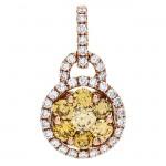 18K Rose Gold Yellow Diamond Pendant