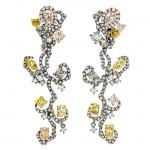 18K Black Rhodium Fancy Diamond Earrings