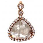 18K Rose Gold Fancy Diamond Pendant