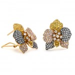 18K Yellow Gold Yellow Diamond Earrings