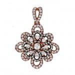 18K Rose Gold Champagne Diamond Pendant