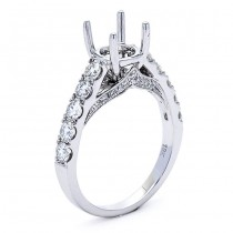 18K White Gold Semi-Mount fot a 1.00ct Round Center