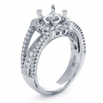 18K White Gold Semi-Mount For a 1.00ct Round Diamond
