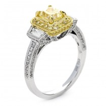 18K Two-tone Gold Yellow Diamond Band