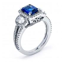 Sapphire and White Diamond band