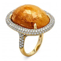18K Yellow Gold Fancy Sapphire Ring