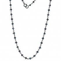 18K Black Rhodium Black Diamond Necklace
