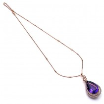 18K Rose Gold Amethyst Necklace