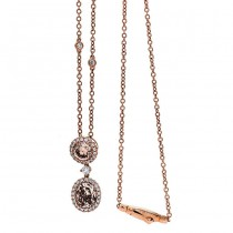 18K Rose Gold Fancy Diamond Necklace