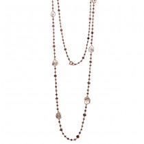 18K Rose Gold Fancy Diamond Slices Necklace